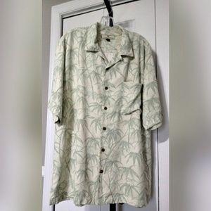 Tommy Bahama 100% Silk Hawaiian Camp Shirt SZ L
